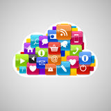 Cloud Computing Icon. Vector Illustration Royalty Free Stock Image