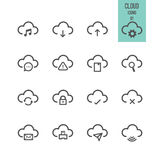 Cloud computing icon. Vector illustration. Royalty Free Stock Photography