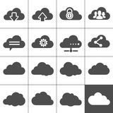 Cloud Computing Icons. Collection of cloud signs. Each icon is a single object (compound path Stock Photos