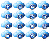 Cloud Computing icons - SET 1 Royalty Free Stock Photography