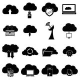 Cloud computing icons set Stock Photo