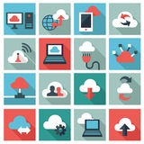 Cloud computing icons Royalty Free Stock Images