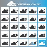 Cloud computing icons Royalty Free Stock Photography