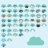 Cloud computing icons Stock Image