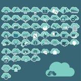 Cloud computing icons Stock Photography