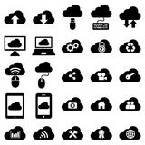 Cloud computing icons Stock Images