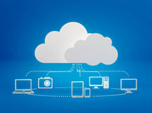 Cloud computing icons Stock Image