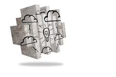 Cloud computing idea on abstract screen Stock Photo