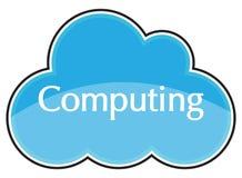 Cloud Computing-Ikonen-Blau lizenzfreie stockfotos