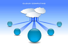 Cloud computing illustration Stock Photography