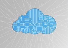 Cloud computing  illustration as abstract background Stock Photos