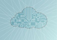 Cloud computing  illustration as abstract background Royalty Free Stock Photos