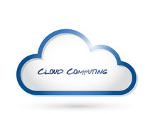 Cloud computing illustration design Royalty Free Stock Photo