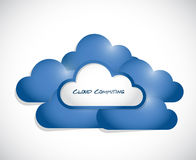 Cloud computing illustration design Royalty Free Stock Photos