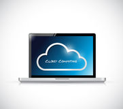 Cloud computing illustration design Royalty Free Stock Images