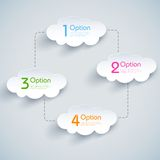 Cloud Computing. Illustration of infographic chart of cloud computing Stock Photo