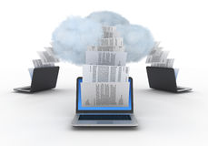 Cloud computing. Royalty Free Stock Photo