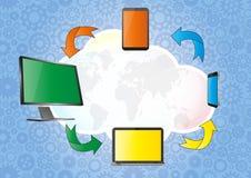 Cloud computing Stock Photo