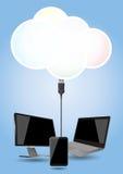 Cloud computing Royalty Free Stock Photography
