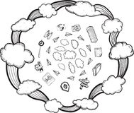 Cloud computing illustrations Stock Photo