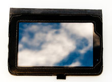 Cloud computing on a 7 inch tablet Royalty Free Stock Photos