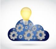 Cloud computing industry illustration Stock Photos