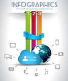 Cloud Computing Infographic Concept Background Royalty Free Stock Images