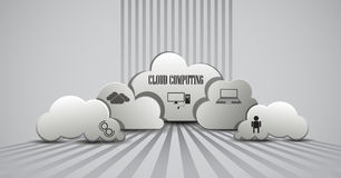 Cloud computing infographic Stock Photos