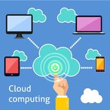 Cloud computing infographic Royalty Free Stock Photo