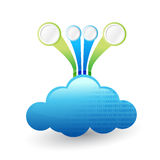 Cloud computing Infographic template illustration Royalty Free Stock Images
