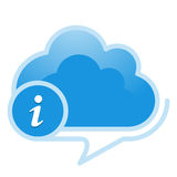 Cloud, computing, information service illustration. Stock Image