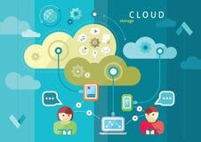 Cloud computing internet concept Stock Photo