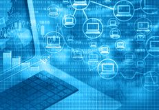 Cloud computing with internet marketing. Abstract background Royalty Free Stock Photo