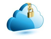 Cloud computing internet security concept Royalty Free Stock Photo