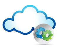 Cloud computing internet security concept Royalty Free Stock Photography