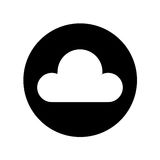Cloud computing isolated icon Royalty Free Stock Image