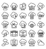 Cloud Computing Isolated Vector Icons Set royalty free illustration