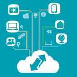 Cloud computing and its functions Stock Photography