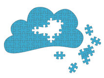 Cloud Computing Jigsaw Stock Images