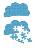 Cloud Computing Jigsaw Stock Photography