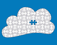 Cloud Computing Jigsaw Royalty Free Stock Photography