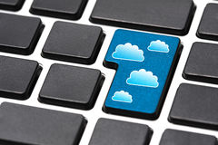 Cloud Computing Key Empty Keyboard Royalty Free Stock Photos