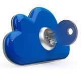 Cloud Computing Key Means Internet Security Stock Photos
