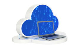 Cloud computing, laptop stock footage