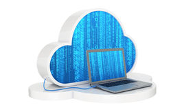 Cloud computing, laptop Royalty Free Stock Photos