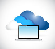 Cloud computing laptop illustration design Royalty Free Stock Image