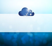 Cloud computing and lights illustration Stock Images