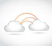 Cloud computing link network connection. Stock Photos
