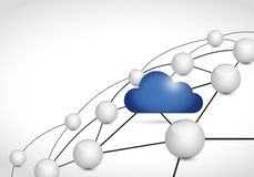 Cloud computing link network connections Stock Photo