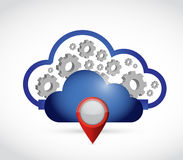 cloud computing locator connection. Royalty Free Stock Image
